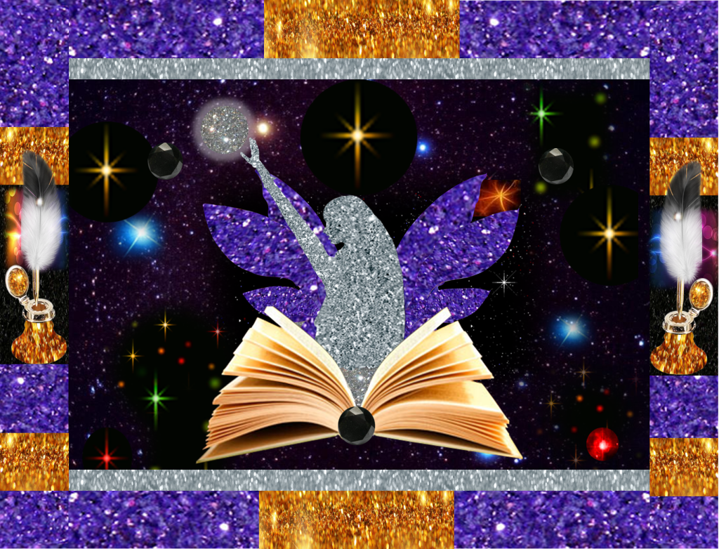 Purple Glitter Fairy with Extra Gold Glitter - For Use On All Pages of Website - 2015